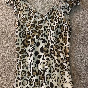 Violet & Claire Tops - Violet and Claire leopard tank top medium